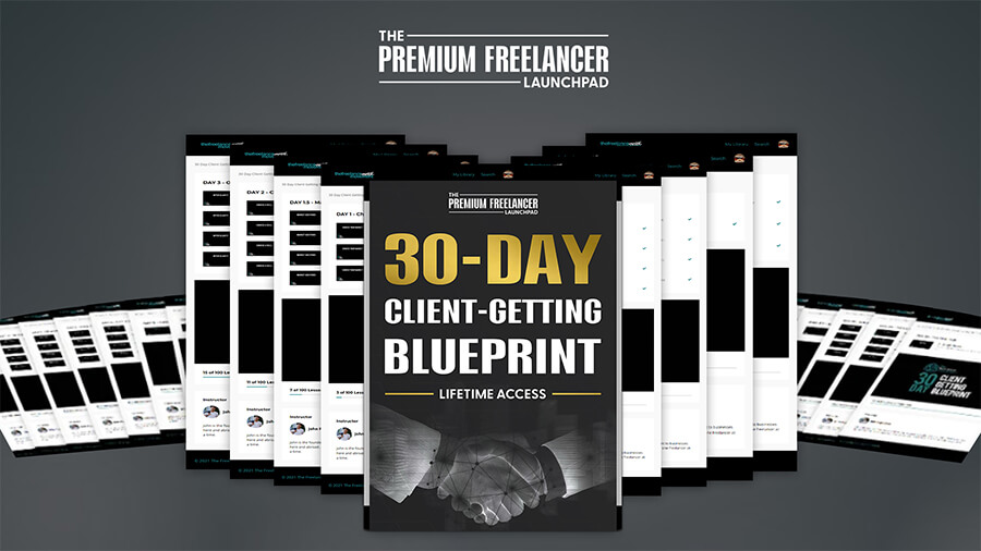 30-DAY Client Getting Blueprint | The Freelance Movement